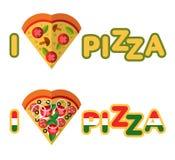 Liefdepizza Stock Foto's