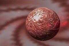 Liefdeplaneet Mars outdoors De science fiction geeft terug stock illustratie