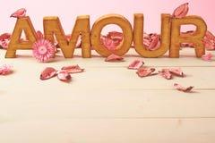 Liefdesamenstelling van brieven Stock Foto's