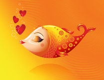 Liefdevissen Stock Afbeeldingen