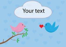 Liefdevogel - brengend hart vector illustratie
