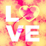 Liefdeword vertegenwoordigt Minnaarsvriend en Hartstocht vector illustratie