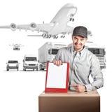 Lieferer und Hintergrund 3d Lizenzfreie Stockbilder