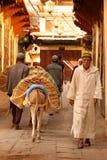 Liefern von Waren im medina lizenzfreies stockbild