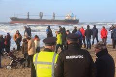 Lieferung angeschwemmt in Wijk aan Zee, die Niederlande Stockfoto