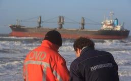 Lieferung angeschwemmt in Wijk aan Zee, die Niederlande Stockfotos