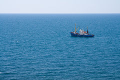 Lieferung in dem Meer Stockbild