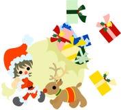 Lieferung der Weihnachtsgeschenke Stockfotos