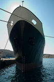 Lieferung im Kanal. Stockfoto