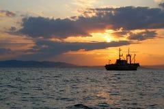 Lieferung im Meer Stockfoto
