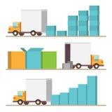 Lieferung Infographic-Elemente Lizenzfreie Stockfotografie