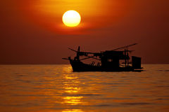Lieferung und Sonnenuntergang Lizenzfreies Stockbild