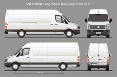 Lieferung Van Blueprint VW Crafters LWB vektor abbildung