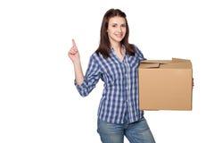 Lieferung, Verlegung und Auspackenkonzept Lizenzfreie Stockbilder
