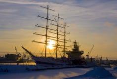 Lieferungen im Winter, St. Petersburg Stockbild