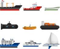 Lieferungen und Boote Stockfotos