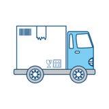 Lieferungs-Fracht-LKW Stockfoto