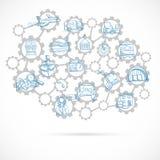 Lieferungs-Konzept-Skizze Lizenzfreies Stockbild
