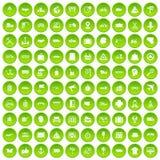 100 Lieferungsikonen grün eingestellt Lizenzfreies Stockbild