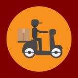 Lieferungspaketikone in der modischen flachen Art lokalisiert auf grauem Hintergrund Lieferungssymbol für Ihr Design, Logo, UI Ve Stockfotos