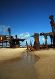 Lieferungswrack, Fraser Insel Lizenzfreies Stockfoto