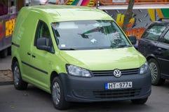 Lieferwagen des Volkswagen-TRANSPORTGESTELL-Lichtes Stockbild