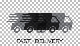 Lieferwagenlogo-Vektorillustration Schneller Zustelldienst s vektor abbildung