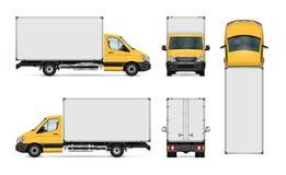 Lieferwagenschablone stock abbildung