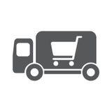 Lieferwagenvektor-Ikonenillustration Stockfoto