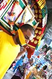 Liefhebber in Optocht Thaipusam Royalty-vrije Stock Foto