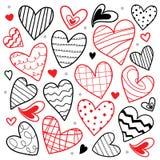 Liefje I houdt van u Valentine Heart Cute Cartoon Vector Stock Afbeelding
