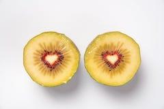 Liefjes in kiwifruit Royalty-vrije Stock Fotografie