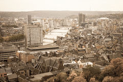 Liege aerial view Royalty Free Stock Images