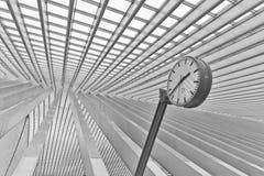 LIEGE BELGIEN - December 2014: Abstrakt sikt på taket med s Arkivbild