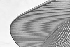 LIEGE, BELGIUM - December 2014: Abstract view on the roof of the Royalty Free Stock Image