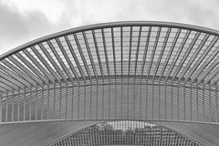 LIEGE, BELGIUM - December 2014: Abstract view on the roof of the Stock Photography
