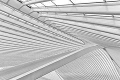 LIEGE, BELGIUM - December 2014: Abstract view on the roof of the Stock Images