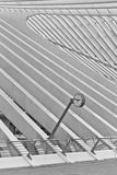 LIEGE, BELGIUM - December 2014: Abstract view on the roof with s Stock Images