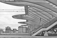 LIEGE, BELGIUM - December 2014: Detailed roof of the Liege-Guill Stock Photos