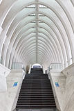 LIEGE, BELGIUM - December 2014: Entrance of the railway station Stock Image