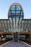 Liege Guillemins railway station Santiago Calatrava ICE train po Stock Images