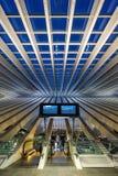 Liege Guillemins train railway station Santiago Calatrava portra Stock Image