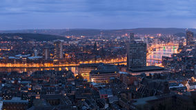 Liege in belgium from montagne de bueren. Stock Image