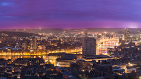 Liege in belgium from montagne de bueren. Royalty Free Stock Photo