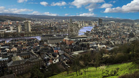 Liege in belgium from montagne de bueren. Stock Images