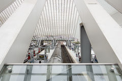 Liege-Guillemins railway station Royalty Free Stock Images