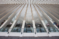 Liege-Guillemins railway station Stock Photography