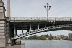 Liege Le Pont de Fragnée arkivfoton