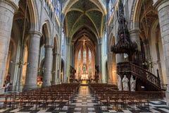 Liege Sint-Jacobs kyrka Royaltyfri Foto