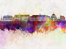 Liege skyline in watercolor Stock Images